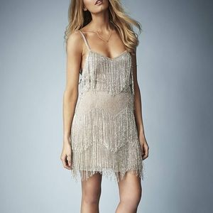 ✨Kate Moss for Topshop Beaded Fringe Tiered Dress✨
